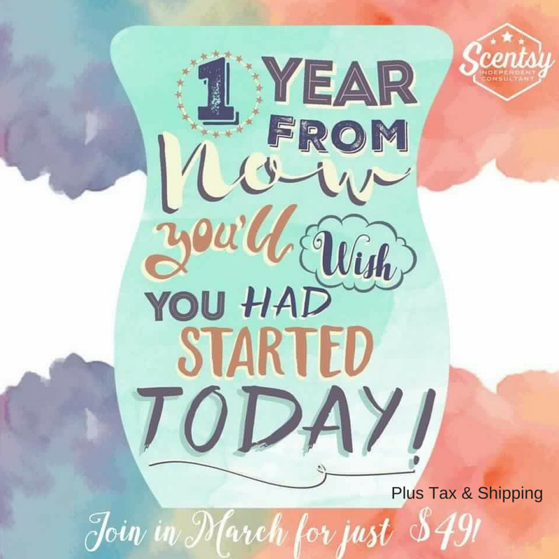 Join Scentsy in March for $49 + Tax & Shipping