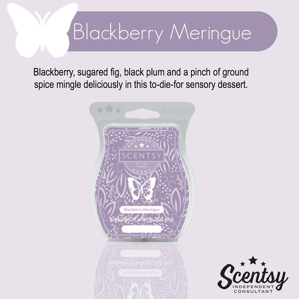 blackberry meringue Spring Summer Catalog Scentsy Melissa Dell
