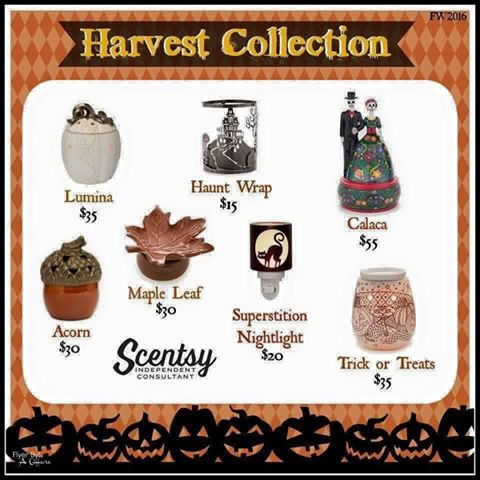 2016 Scentsy Harvest Collection