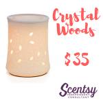 Scentsy Warmer - Crystal Woods - $35