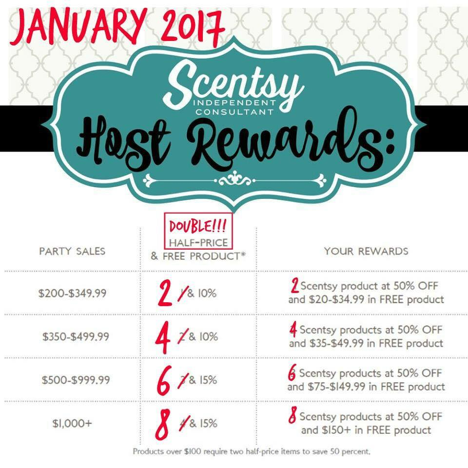 Spoil Yourself in January - Scentsy Double Hostess Rewards