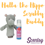 Scentsy Kids Products - Halla the Hippo Scrubby Buddy