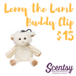 Scentsy Buddy Clip - Lenny the Lamb with Jammy Time Fragrance
