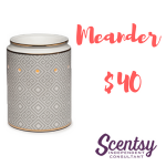 Scentsy Warmers - Meander - $40