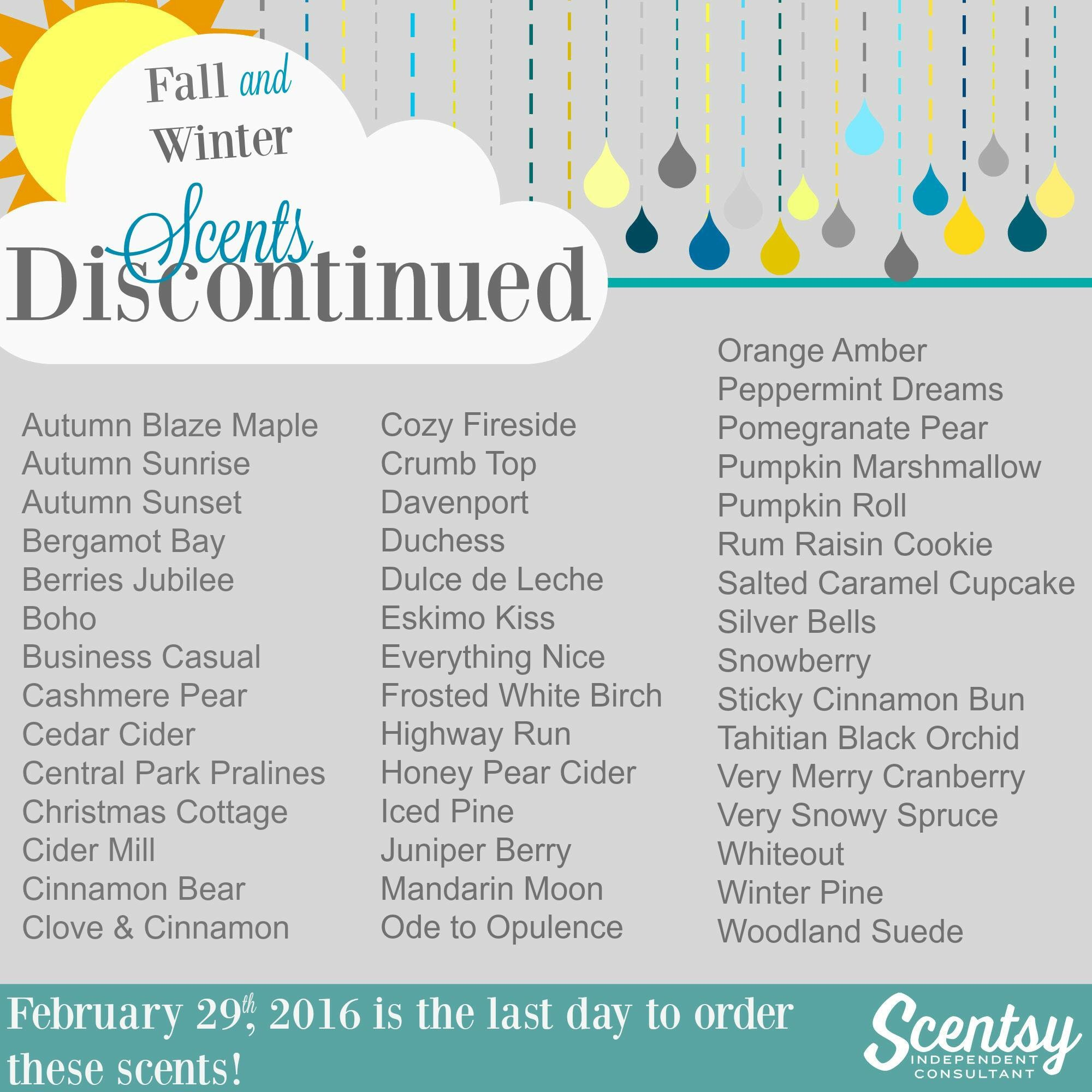 Scentsy Discontinued Scents Melissa Dell Santa Clarita Valley Scentsy Consultant