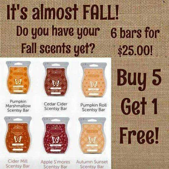 Scentsy Fragrance - Fall 6 pack