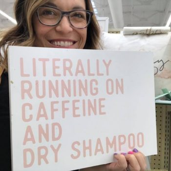 running on dry shampoo Melissa Dell Scentsy Consultant